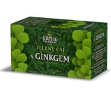 Grešík Green tea with ginkgo has a positive effect on improving memory, blood circulation in the brain infusion bags 20x1.5 g