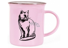 Albi Keramický plecháček Kočka růžový 250 ml