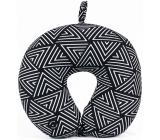 Albi Massage Travel Pillow Geometric pattern black & white 30 x 28 x 10 cm