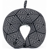 Albi Massage Travel Pillow Geometric pattern black & white 30 x 28 x 10 cm