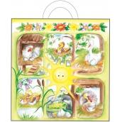 Velikonoční igelitová taška s uchem Sluníčko se zvířátky 48 x 45 x 6 cm