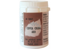 AKH Coffea Cruda homeopathic food supplement helps to concentrate, pain relieving, palpitations 60 tablets