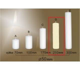 Lima Gastro smooth candle ivory cylinder 50 x 210 mm 1 piece