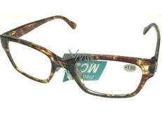 Berkeley Reading eyeglasses +3.0 plastic tiger brindle 1 piece ER4198