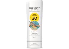 Nafigate Cosmetics Organic Sunscreen SPF30 tanning emulsion with natural UV filter 200 ml