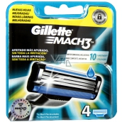 Gillette Mach 3 spare heads 4 pieces
