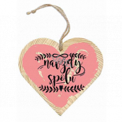 Bohemia Gifts Wooden decorative heart with print Forever together 12 cm
