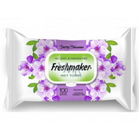 Freshmaker Berry Blossom - Flowers cosmetic wet wipes 100 pieces