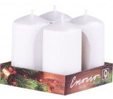 Emocio Perla clawed white candle cylinder 40 x 75 mm 4 pieces