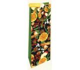 Nekupto Gift paper bag for bottle 33 x 10 x 9 cm Christmas with orange WLH 1968 50