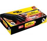 Fino Nitrile gloves black, size M 50 pieces