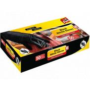 Fino Black Nitrile Gloves disposable nitrile gloves black, size M 50 pieces