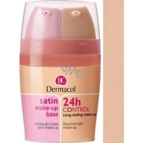 Dermacol Satin Make-up Base & 24h Control 2in1 make-up base and make-up 03 2x15 ml