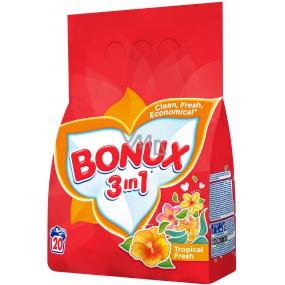 Bonux Tropical Fresh 3v1 washing powder 20 doses 1.5 kg