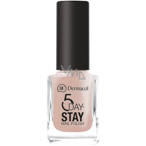 Dermacol 5 Day Stay Long-lasting nail polish 12 Coffee Break 11 ml