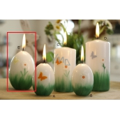 Lima Spring relief bow tie, flower candle white large egg 60 x 90 mm 1 piece