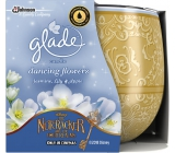 Glade Dancing Flowers - Jasmine, Lily and Apple scented candle in glass burning time up to 30 hours 120 g