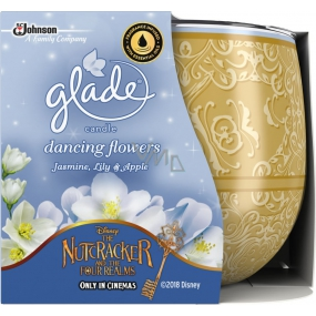 Glade by Brise Jasmine, lily + apple scented candle in glass 120 g
