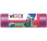 viGO! Retractable garbage bags purple, 27 µ, 120 liters 70 x 100 cm 10 pieces