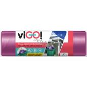 viGo! Trash bags purse purple 120 liters, 70 x 100 cm 10 pieces