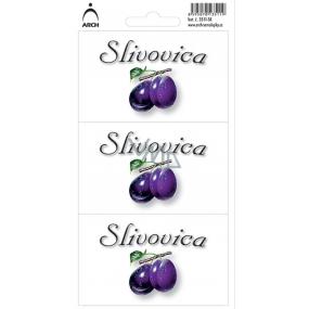Arch Sticker Plum brandy label SK 3 pieces