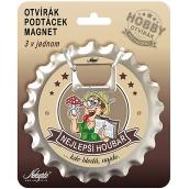 Nekupto Hobby 3in1 opener, coaster, magnet Best mushroom picker 10 cm