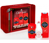 Old Spice Captain deodorant stick 50 ml + 2in1 shower gel 250 ml + aftershave 100 ml + tin box, cosmetic set for men