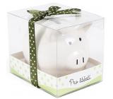 Albi Piggy bank small For good luck white 7 cm × 6.5 cm × 7.3 cm
