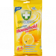 Green Shield Household Surface Wipes 4in1 Household Antibacterial Cleaning Wet Wipes 50 pieces