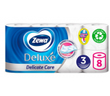 Zewa Deluxe Aqua Tube Delicate Care toilet paper 3 ply 150 pieces 8 pieces, roll that can be washed