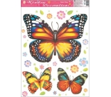 Room Decor Window film without adhesive butterfly yellow-red-blue 42 x 30 cm