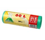 Alufix Trash bags retractable green, 15 µ, 60 liters, 64 x 71 cm, 20 pieces HDPE