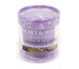Heart & Home Levandule Sojová svíčka bez obalu hoří až 15 hodin 53 g