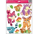 Room Decor Stickers on the Wall Forest Animals Fox 33 x 29 cm