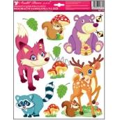 Wall stickers Forest animals fox 33 x 29 cm