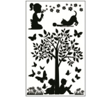 Room Decor Stickers for light switch silhouettes in the park No.3 24 x 15 cm