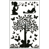 Room Decor Stickers to switch silhouettes in the park No.3 24 x 15 cm