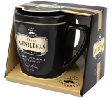 Nekupto League of Real Gentlemen mug in a box, Real GENTLEMAN- distinctive, intelligent, strong and stylish, 7.5 x 9 cm