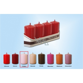 Lima Candle pink cylinder 40 x 70 mm 4 pieces