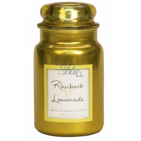 Village Candle Rhubarb Lemonade Scented candle in glass 2 wicks 602 g