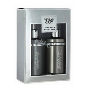 Vivian Gray Crystal Gray Body Lotion 250 ml + 250 ml shower gel, cosmetic set