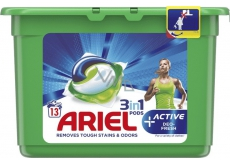 Ariel 3in1 Active Deo-Fresh gel capsules for washing clothes 13 pieces
