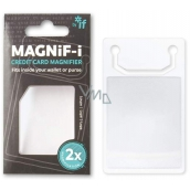 If Magnif-i Credit Card Magnifier in credit card size 2 x magnification
