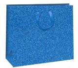 Ditipo Gift Paper Bag Glitter Blue 31 x 12 x 26 cm