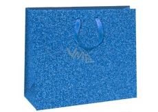 Ditipo Gift Paper Bag Glitter Blue 31 x 12 x 26 cm