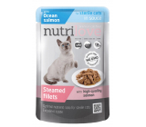 Nutrilove Stewed fillets with juicy salmon in sauce complete food for castrated and sterilized cats pocket 85 g