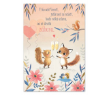 Ditipo Playing birthday card The whole Squirrel knows it, The Squirrel Danced, the Children's Choir of Czechoslovakiaradio 224 x 157 mm
