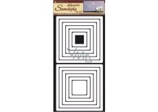 Square wall stickers white 69 x 32 cm