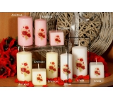 Lima Poppy scented candle white with decal cylinder 50 x 100 mm 1 piece