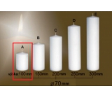 Lima Gastro smooth candle white cylinder 70 x 100 mm 1 piece